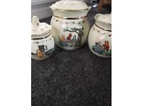 Lenox Winnie the Pooh Disney canisters/ pots