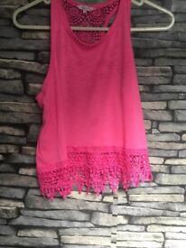 Pink vest top
