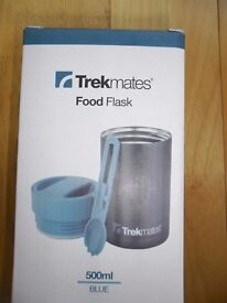 New, Trekmate stainless steel food flask and thermo bottle thermos flask.