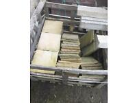 Indian sandstone paving slabs garden patio 300mm x 300mm