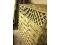 Brand new wooden fence panels on