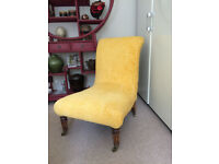 Antique Newly Upholstered Slipper Chair / Nursing Chair