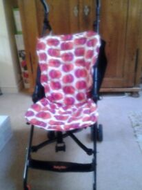 Babyway stroller in very good condition with integral sunshade and shopping net. Includes extras.