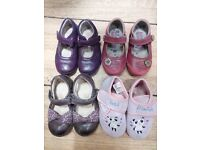 Girls Shoe Bundle: pre-school size 6, including Clarks and Hush Puppies