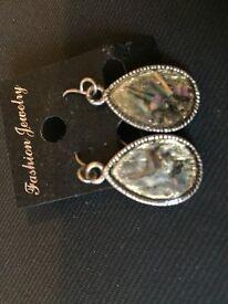 Marble effect costume jewellery earrings