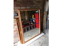Large Retangular Pine Mirror