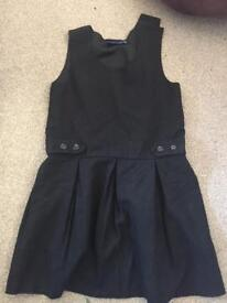 Girls black 7-8 school uniform immaculate
