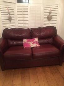 Beautiful brown leather sofa