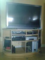 "Sony 52"" flat screen TV & Stand"