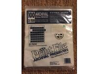 Pack of 100 35 mm archival negative preservers (more available)