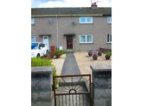 Mid-terraced house, in Bishopmill, Elgin. Unfurnished 2 x Double bedrooms, gas ch and dg