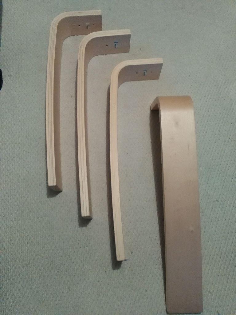 Ikea Vika Oleby Table Desk Legs X4 Natural Birch Laminate