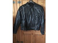 Ladies JTS size 22 soft leather motorcycle jacket