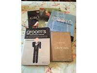 5x wedding books (groom)