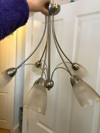 John Lewis Mizar Ceiling Light with 5 Arms - Brushed Silver