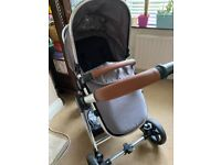 Panorama travel system pram and lots of baby girl clothes and more