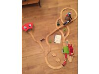 Early learning centre train set with bridge, crane, train station and trains