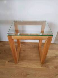 NEXT Glass top side table