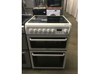 Hotpoint HAE60PS 60cm Electric Cooker in White, Ceramic Hob