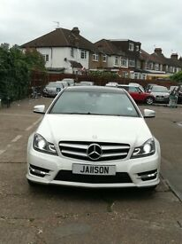 MERCEDES C220 CDI. 74000 MILES. FULL MERCEDES BENZ SERVICE HISTORY! FULL RED LEATHER & SAT NAV!