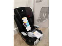 Joie Elevate Group 1/2/3 Car Seat / Booster - Two Tone Black (BRAND NEW)