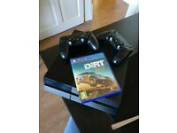 PS4 (500gb) & 2 controllers, DIRT: Rally + Wireless Headset
