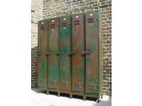 FREE DELIVERY Antique Metal Lockers Retro Vintage Mid Century Furniture 1- 5