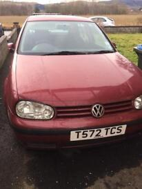 VW Golf for spares or repair