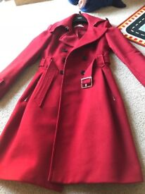 Ladies Karen Millen red coat