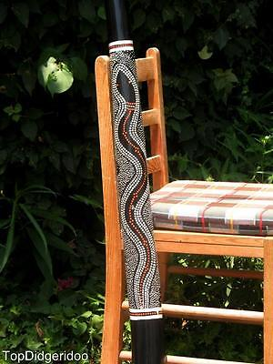"47""120cm DIDGERIDOO+Bag+Beeswax Mouthpiece * Teak Wood Artwork Handpaint SNAKE"