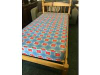 Pine single bed and mattress can deliver