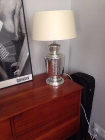 Silver Graham & Green Table Lamp