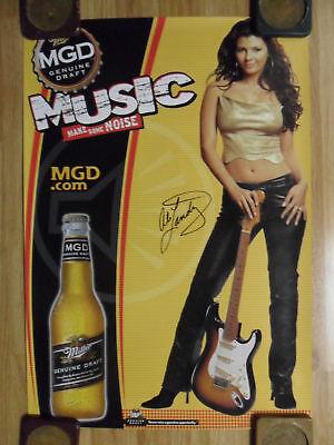 Sexy Girl Beer Poster MGD Ali Landry Music Make Noise