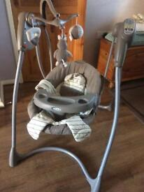 Graco baby swing seat bouncer