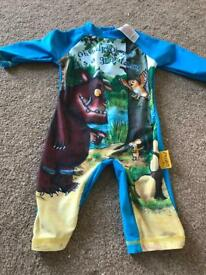 Gruffalo All In One Swimsuit Size 18-24 Months