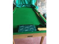 Snooker Table - Riley 6'x3' SnookerTable including cues, balls, triangle, brush, cover