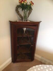 Handmade Dark Wood Display Cabinets