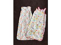 3 x summer sleep bags (2 x Gro Company) 18-36 months