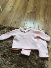 Girls pink tracksuit, 0 - 3 months