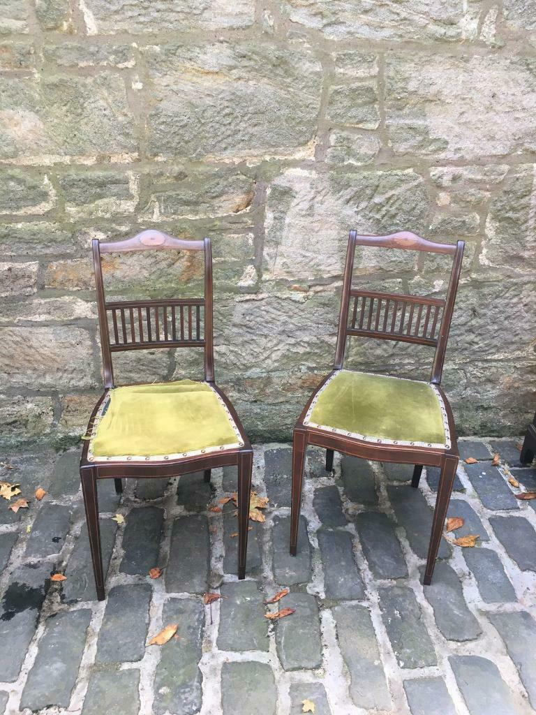 Two dark wood chairs | in Dunfermline, Fife | Gumtree
