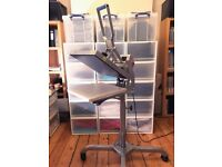 Heat Press - Professional Use Stahls Hotronix - with Caddie & Accessories