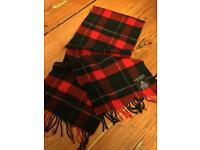 Jaeger red and black lambswool scarf