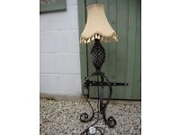 Wrought Iron Table/Free Standing Lamp