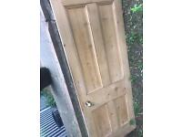 ORIGINAL ANTIQUE SOLID WOOD DOOR
