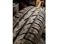 New 175 65 15 Continental tyre on steel rim