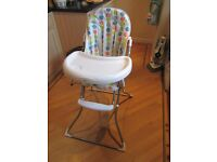 CHILDS HIGHCHAIR WITH INSERT SUPPORT