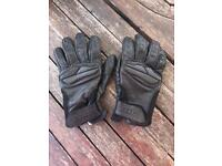 Real Leather Motorbike Gloves