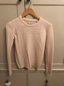 Jack wills pink cable knit jumper