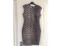 Animal print dress. Size 10