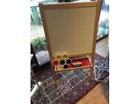 Childs easel with blackboard and white board
